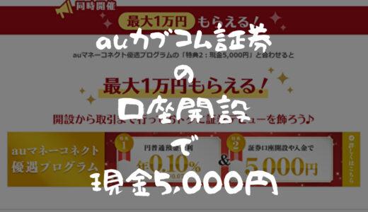 auカブコム口座開設で5,000円ゲット!2つのキャンペーンをわかりやすく解説