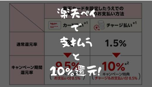 【9日間限定キャンペーン】楽天ペイ利用で最大10%還元!