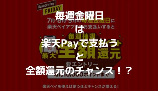 【金曜日は全額還元】楽天Payで支払うと全額 or 100ポイントゲットのチャンス!